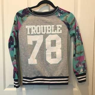 """Miss Understood """"TROUBLE"""" Sweatshirt (Size 12)"""