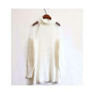 White Long Jersey Dress
