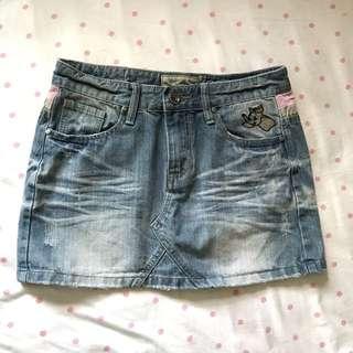 🚚 #兩百元短褲 小飛象刺繡牛仔短裙