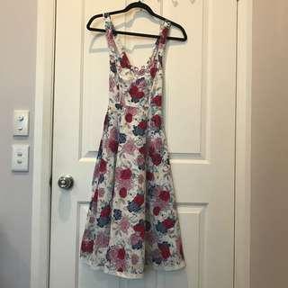 Floral Print Summer Dress (Size 8)