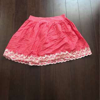 Exhibit Embroidered Pink Mini Skirt (Size 8)
