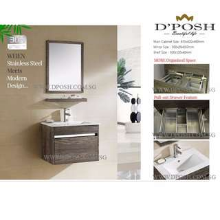 3178-60-Stainless Steel Basin Cabinet with Mirror