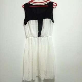 Chiffon B&w Dress