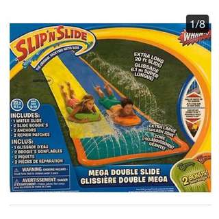 Double Slip'n'Slide With Two Boogie Boards