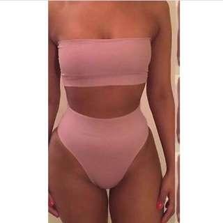 High Waisted Bikini Kylie Jenner Style