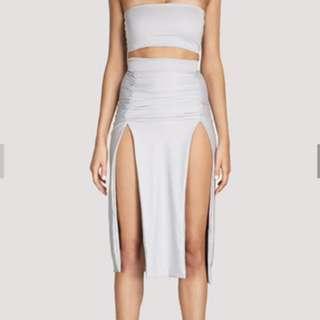 Meshki Zani Crop And Skirt