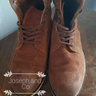 INDUSTRIE Brown Suede Boots Size 43 #EOFYSALE