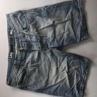 Lee Denim Slim Shorts (Hem)