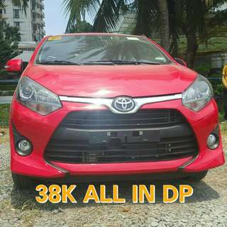 38K ALL IN - BNEW TOYOTA WIGO