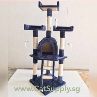 Cat / Kitten Tree House Tower Scratch Post Pole Toy Condo