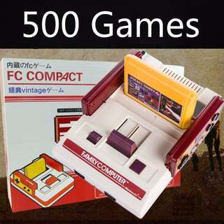 FC Compact Retro Game Console Update Version 500 Games!
