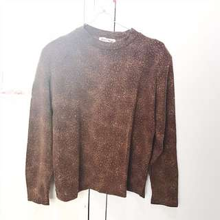 Atasan / Top Turtle Neck Coklat Leopard