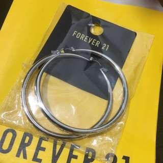 forever21 歐美 大圓圈 耳環