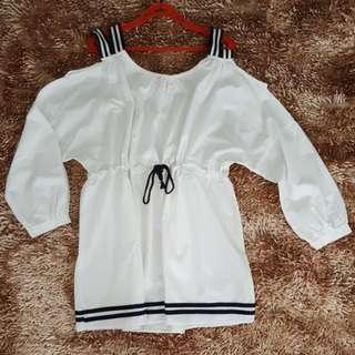 Sailor Mini Dress Off Shoulder