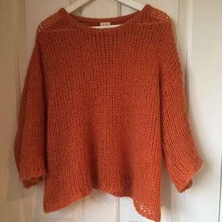 Gorman Orange Knit jumper