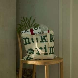 (綠字)Marimekko Logo Shopping Bag 棉布料