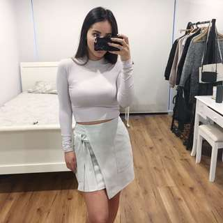 Supré High Neck Cropped Long Sleeve