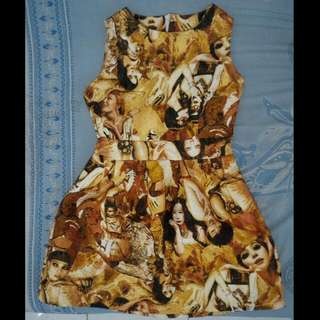 Dress Jaquard Women Motif