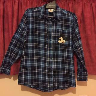Micky Mouse Forever 21 Flannel Shirt Size Small