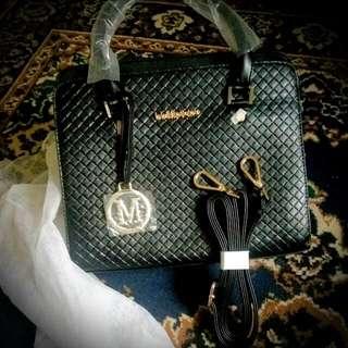 Dual Black Shoulder Bag