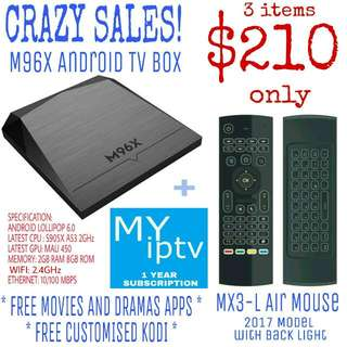 M96X Android TV Box Package