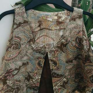 Brown Paisley Top