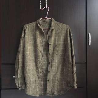 墨綠色格紋襯衫