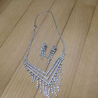 Crystal Evening Jewellery Matching Set