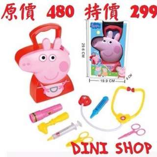 佩佩豬 醫生 扮家家 粉紅豬小妹 Peppa Pig ( 非 tobot 機器戰士 poli 妖怪手錶 湯瑪士 )(A035)DINISHOP