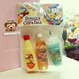 【Wenwens】日本帶回 迪士尼 唐老鴨 奇奇 蒂蒂 花栗鼠 飲料罐 冰淇淋杯 迷你 公仔 造景擺設筆蓋 3款各1/包