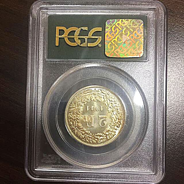 1941-B Switzerland 2 Two Franc Silver Coin PCGS MS66 Old Slab (Consignment)