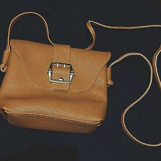Faux Leather Bohemian Bag (In Brown)