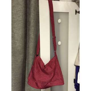 Red Cotton Sling Bag