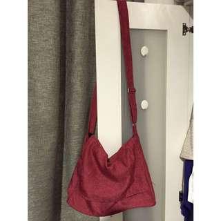 Red Cotton Sling Bag