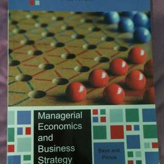 Manegerial Economics And Business Strategies