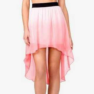 Forever 21 Pink Ombre High Low Skirt