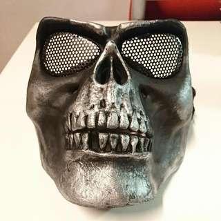 Skull Face Mask (Silver-Grey)