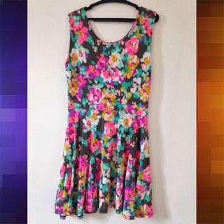 Neon Multi Color Summer Dress