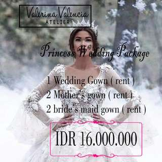 Princess wedding Package