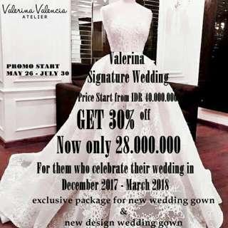 Valerine Signature Wedding Package