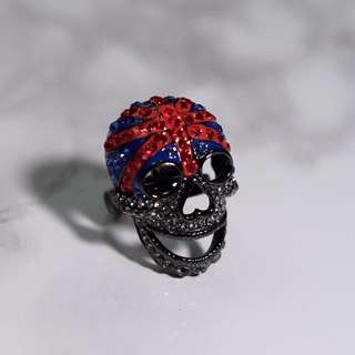 authentic butler and wilson skull ring