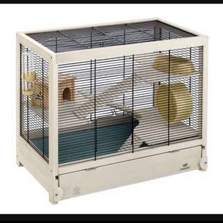 (CLEARING ASAP)Ferplast Hamsterville Large Wooden Hamster Cage!