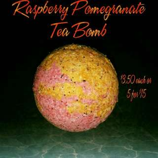 Raspberry Pomegranate Tea bath Bombs