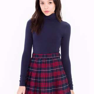 American Apparel Plaid Tennis Skirt