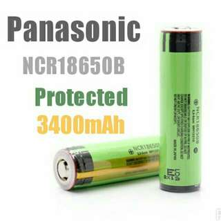 Protected Panasonic 18650 Li-Ion Rechargeable Battery (Model No. : NCR18650B) - $14.90 Per pc