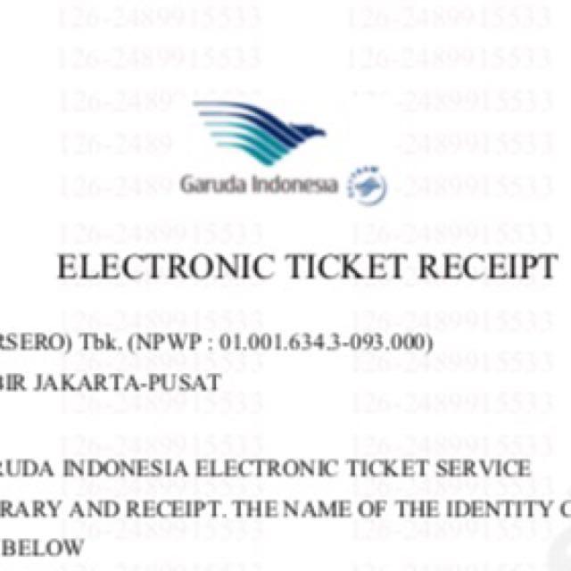 Sisa 1 Tiket Pesawat Garuda PP JKT-belitung-JKT