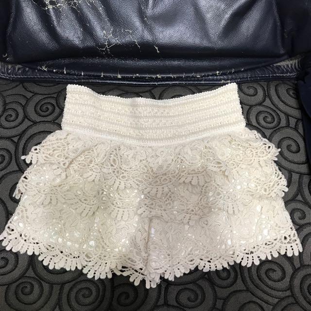 蕾絲鬆緊短褲#兩百元短褲