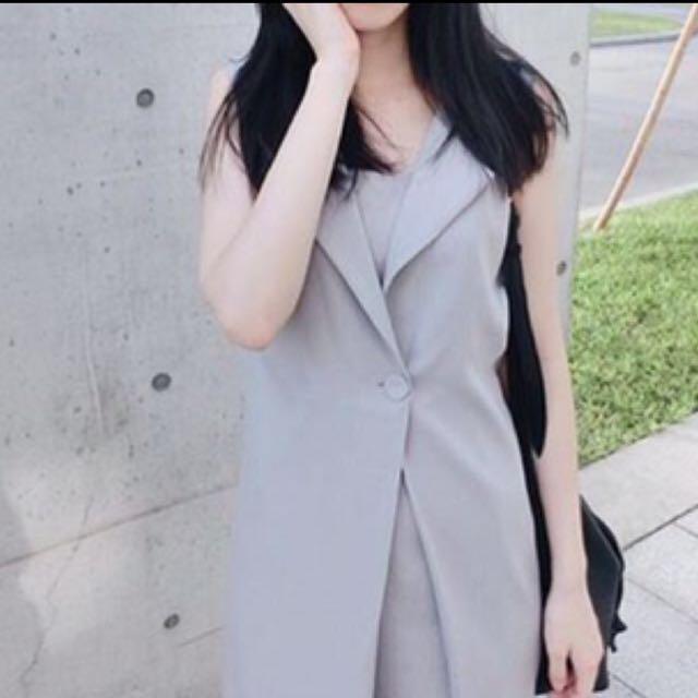 長版襯衫領洋裝