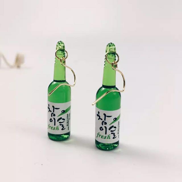 韓國酒瓶耳環
