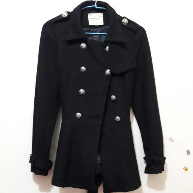 降↘韓版毛呢大衣外套
